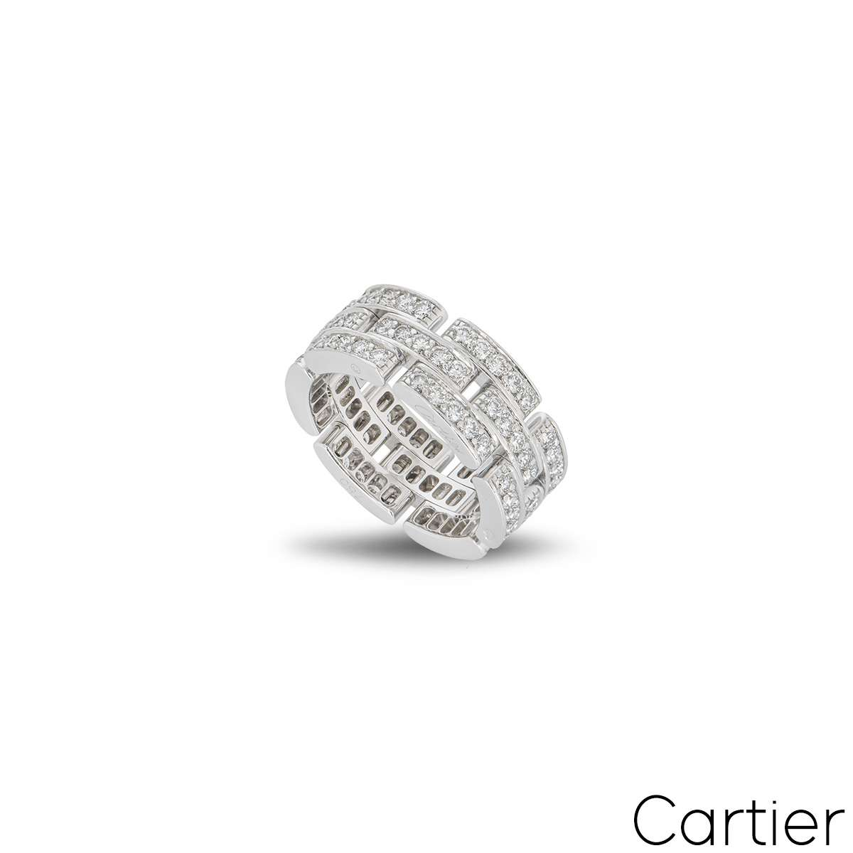Cartier White Gold Maillon Panthere Ring B4111700